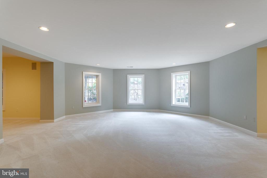 Sunny Lower Level Rec Room with Walk-out. - 2565 YONDER HILLS WAY, OAKTON