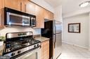 Gas Range and Built-in Microwave - 1021 N GARFIELD ST #221, ARLINGTON