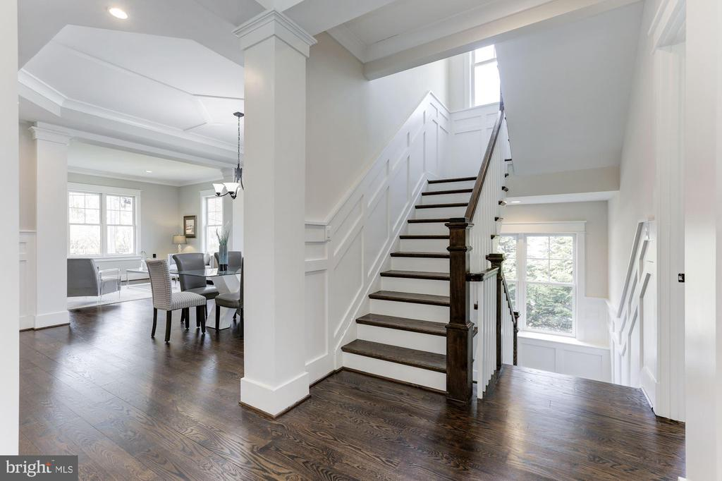 Staircase to Upper and Lower Levels - 6834 CHURCHILL RD, MCLEAN