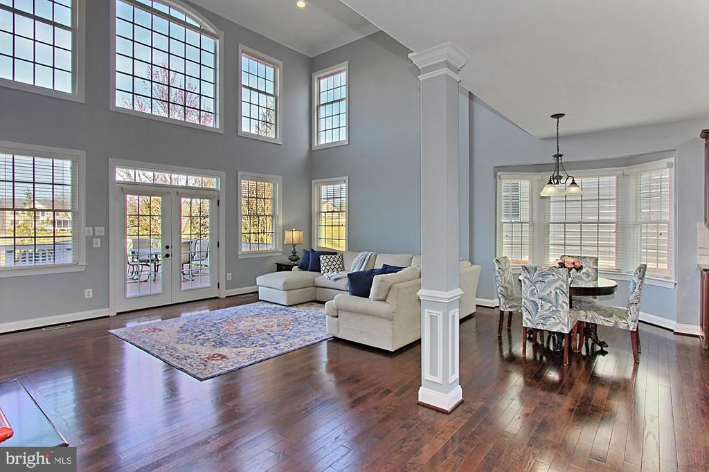 Family Room overlooking deck and golf course - 19817 BETHPAGE CT, ASHBURN
