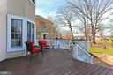 Deck overlooking golf course - 19817 BETHPAGE CT, ASHBURN