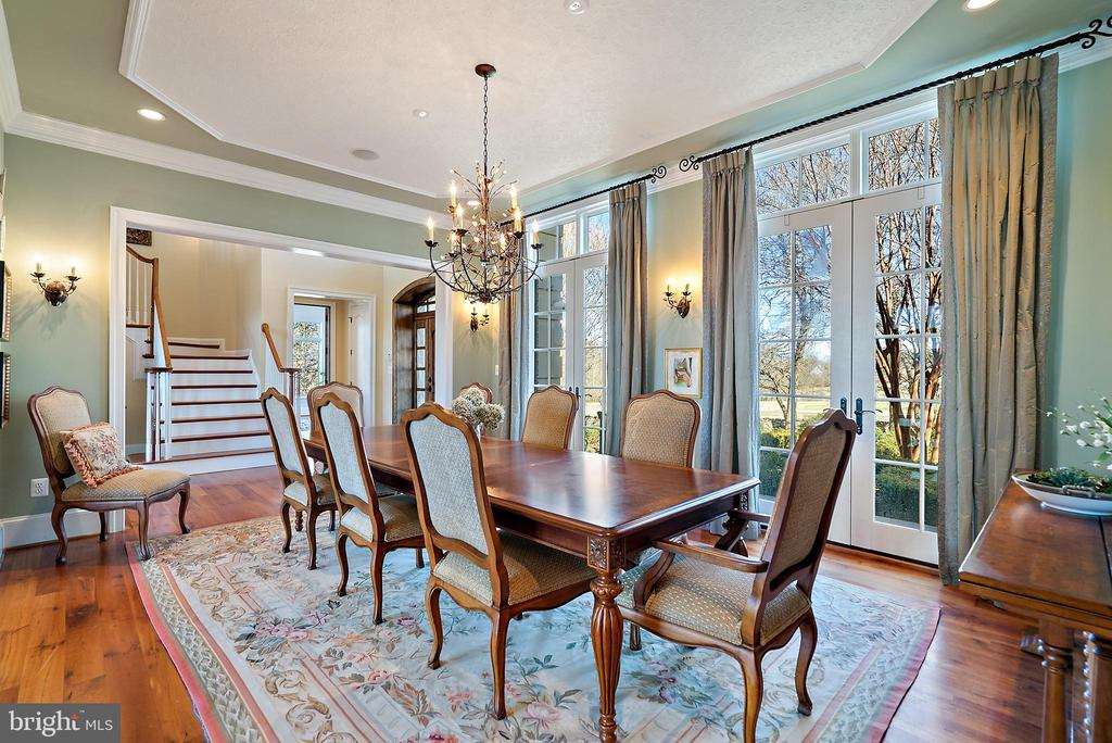 Formal Dining Room with decorator finishes - 21051 ST LOUIS RD, MIDDLEBURG