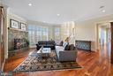 Great Room adjacent to kitchen - 21051 ST LOUIS RD, MIDDLEBURG