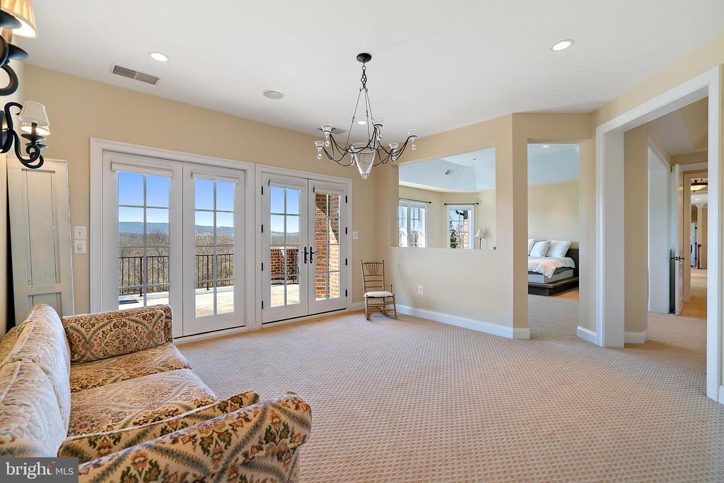 Sitting Room in Master with private balcony - 21051 ST LOUIS RD, MIDDLEBURG