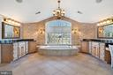 Sumptuous Master Bath with dual vanities - 21051 ST LOUIS RD, MIDDLEBURG