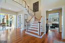 Gracious foyer welcomes guests - 21051 ST LOUIS RD, MIDDLEBURG