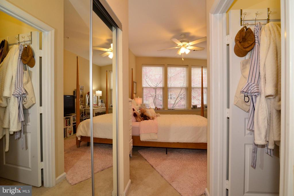 Closets in Second Suite - 12001 MARKET ST #214, RESTON