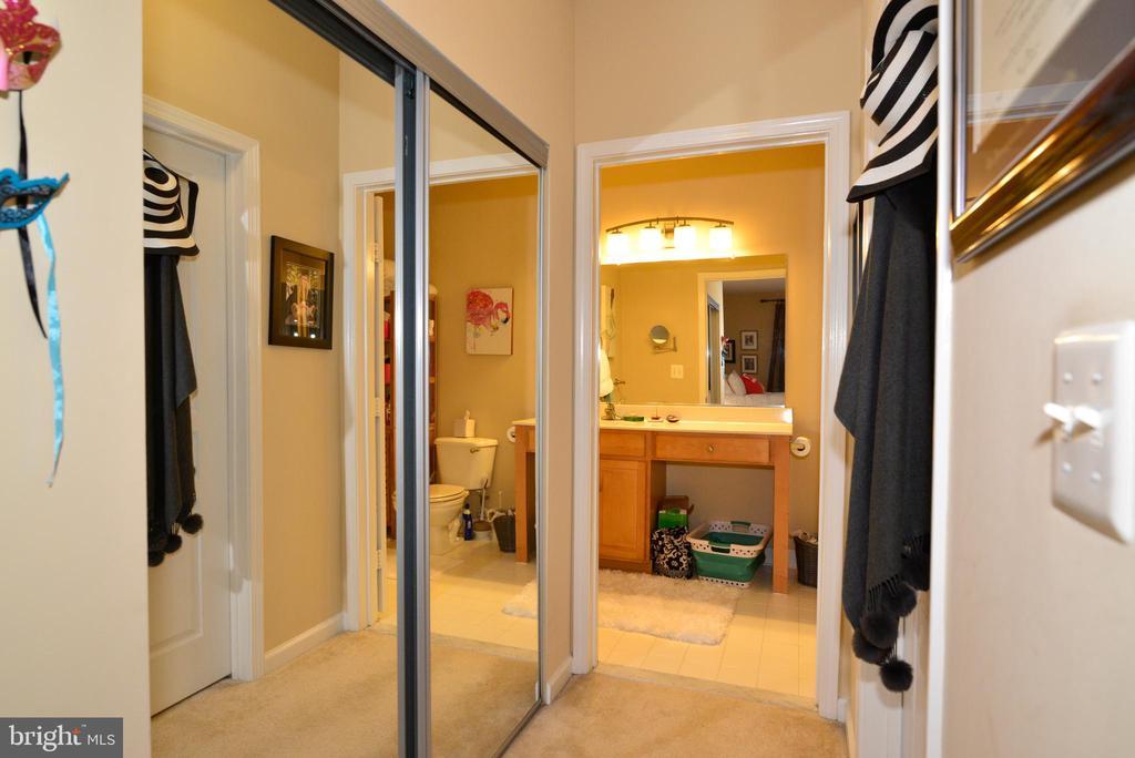 Master bedroom closets - 12001 MARKET ST #214, RESTON
