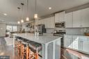 Large Island with Shiplap Trim work - 861 BASSWOOD DR, STAFFORD