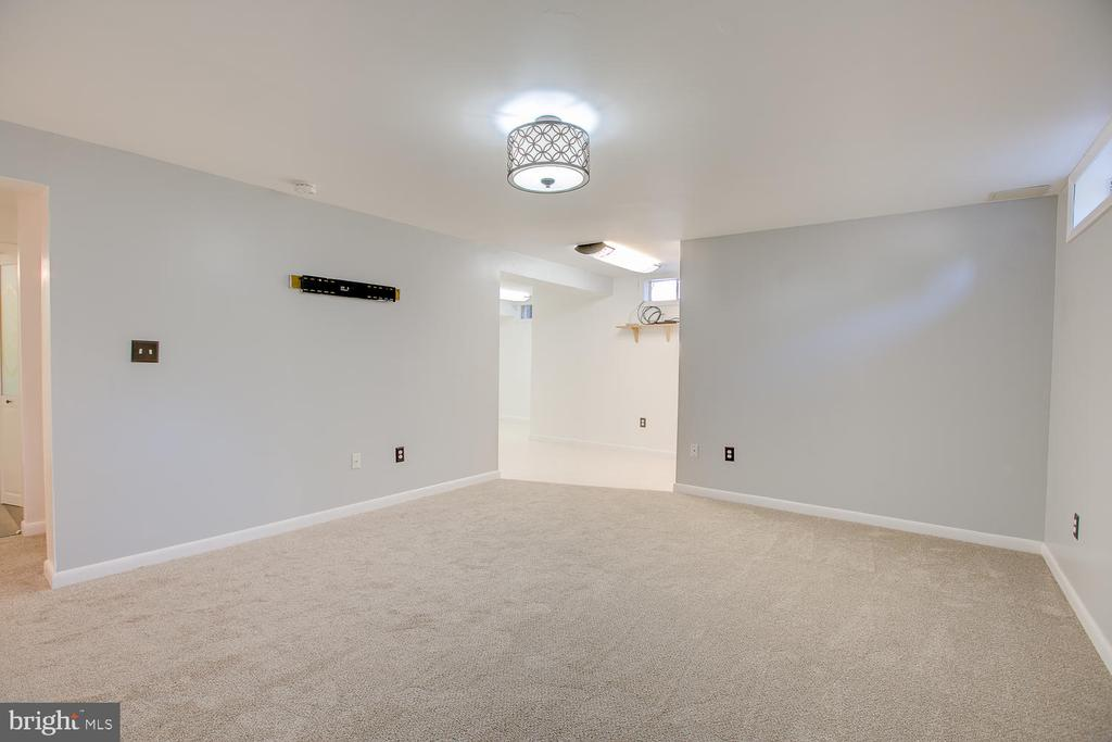 Basement space with newer carpeting! - 23 COOKSON DR, STAFFORD