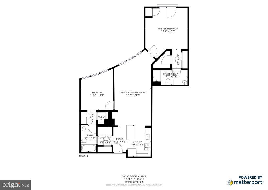 Floor plan of unit - 12001 MARKET ST #214, RESTON