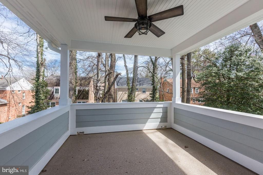 Private Covered Deck off Master Bedroom - 6834 CHURCHILL RD, MCLEAN