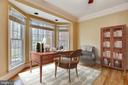 Private office with French doors of the entryway - 3103 PINE OAKS WAY, OAK HILL