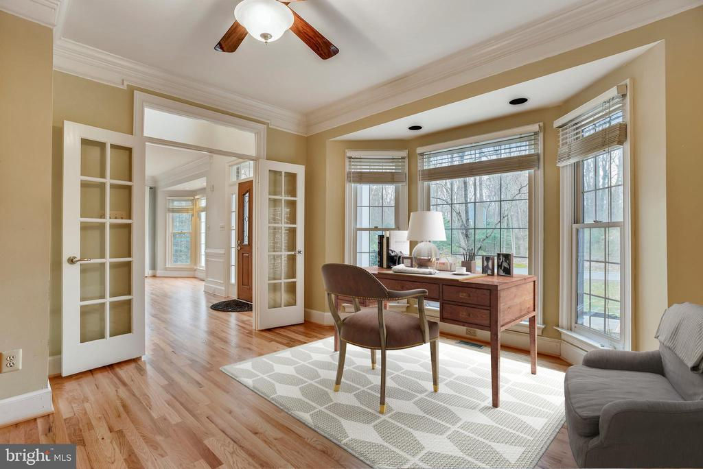 Office... well lit with built in bookcases. - 3103 PINE OAKS WAY, OAK HILL