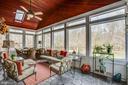 Wall-to-wall windows & mahogany wood ceiling - 110 CARROLL CIR, FREDERICKSBURG