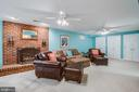 Large basement rec room w/ brick fireplace - 110 CARROLL CIR, FREDERICKSBURG