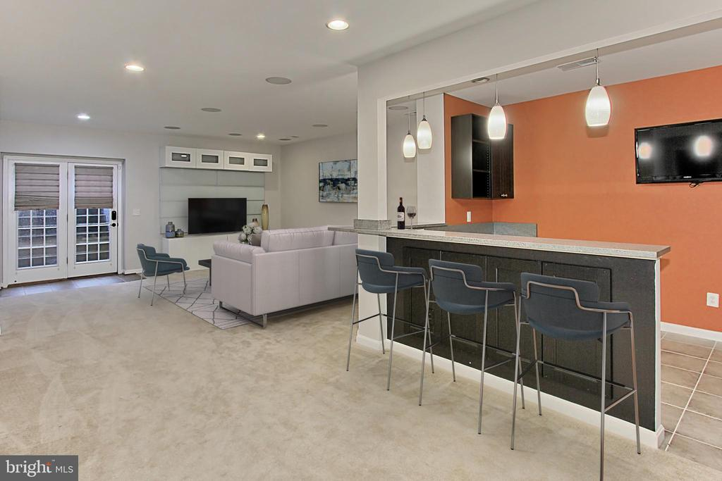 Recreation Room with Wet Bar - 21492 GREAT SKY PL, BROADLANDS