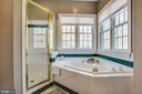 Relax in the corner soaking tub or double shower - 110 CARROLL CIR, FREDERICKSBURG