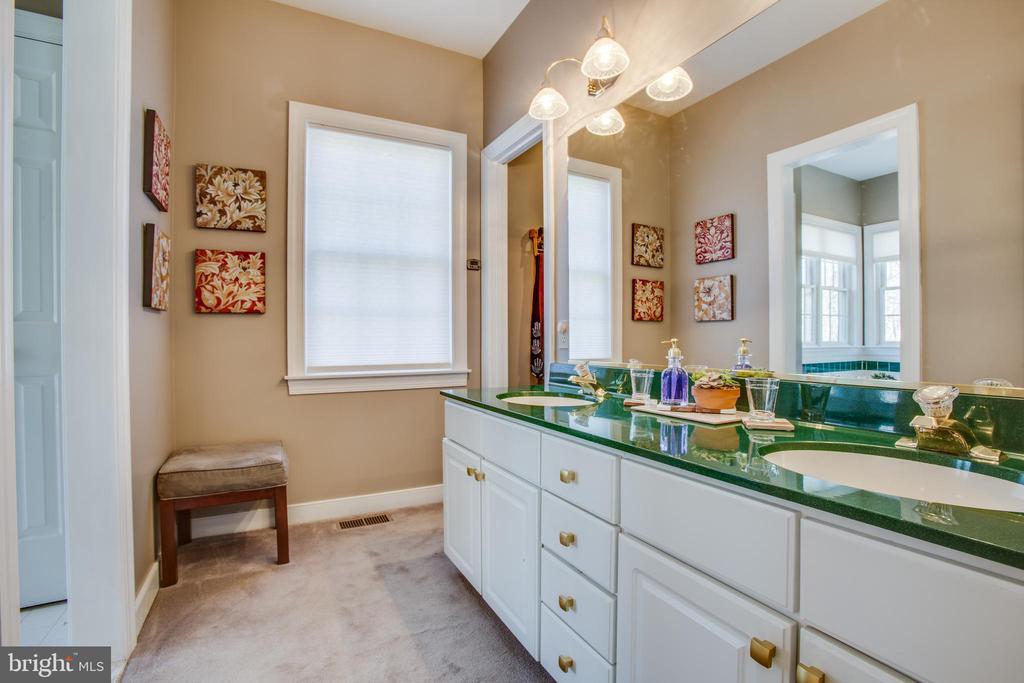 Master ensuite bathroom w/ double vanities - 110 CARROLL CIR, FREDERICKSBURG