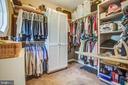 Roomy walk-in closet w/ plenty of storage - 110 CARROLL CIR, FREDERICKSBURG