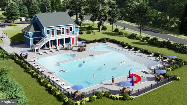 Knight House-Section 2's New Pool & Clubhouse - 861 BASSWOOD DR, STAFFORD