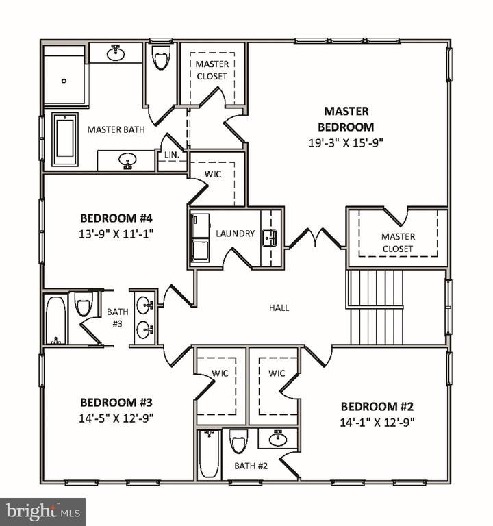 Second Level Floor Plan - 4610 N CARLIN SPRINGS RD, ARLINGTON