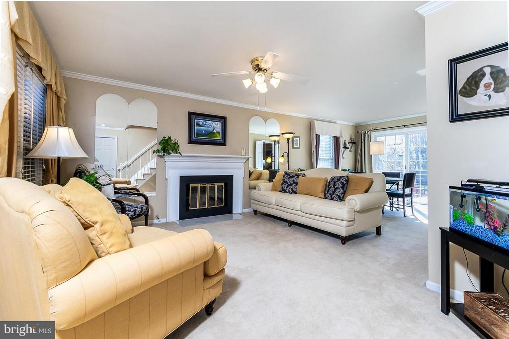 Family Room with Gas Fireplace - 9703 TINY CT, BURKE