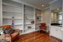 first floor library with wet bar - 12 CLIMBING ROSE CT, ROCKVILLE