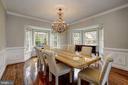 elegant dining room - 12 CLIMBING ROSE CT, ROCKVILLE