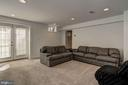 recreation room with walk up entrance - 12 CLIMBING ROSE CT, ROCKVILLE