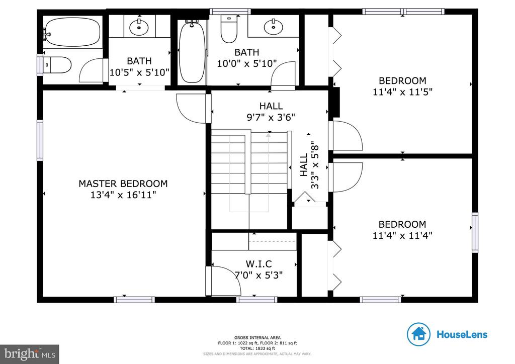 2nd Floor Floor Plan - 6302 PANDA CT, WALDORF