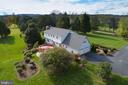 Aerial views of the rear of the home - 21960 OATLANDS RD, ALDIE