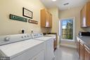 Upper Level Laundry with sink and cabinets - 21051 ST LOUIS RD, MIDDLEBURG