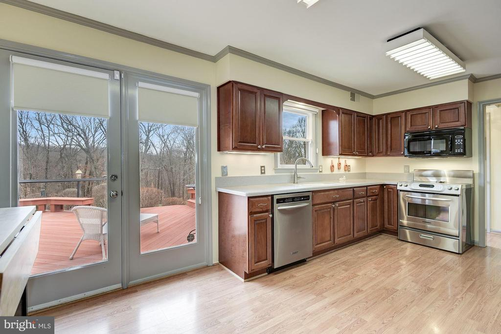 Gorgeous views of the property from the kitchen - 21960 OATLANDS RD, ALDIE