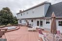 Composite decking with built in hot tub (as is) - 21960 OATLANDS RD, ALDIE