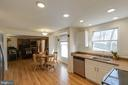 Kitchen, w/ breakfast nook, opens into the Fam Rm - 218 FALLSWAY LN, STAFFORD