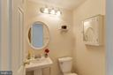 Main level powder room - 218 FALLSWAY LN, STAFFORD