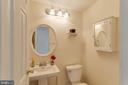 Main level powder room - 218 FALLSWAY LN, STAFFORD