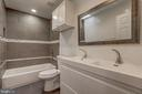 Renovated  Full Bath on Second Floor - 1408 CARROLLSBURG PL SW, WASHINGTON