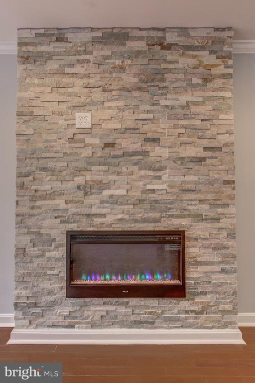 Fireplace with Colored Flames - 1408 CARROLLSBURG PL SW, WASHINGTON