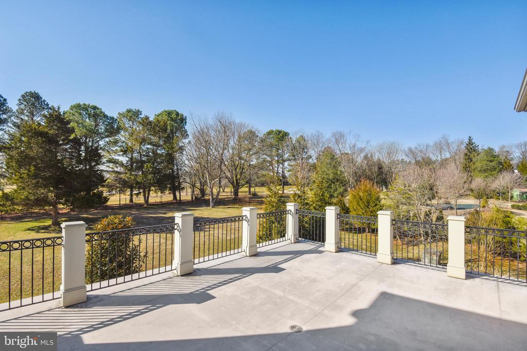 Terrace off Master Bedroom w/view of Gulf Course - 9801 BEACH MILL RD, GREAT FALLS
