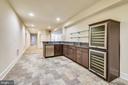 Lwr Lvl Bar with wine refrigerator - 9801 BEACH MILL RD, GREAT FALLS