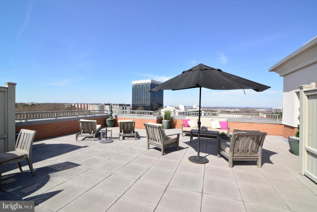 Private patio - 11760 SUNRISE VALLEY DR #1014, RESTON
