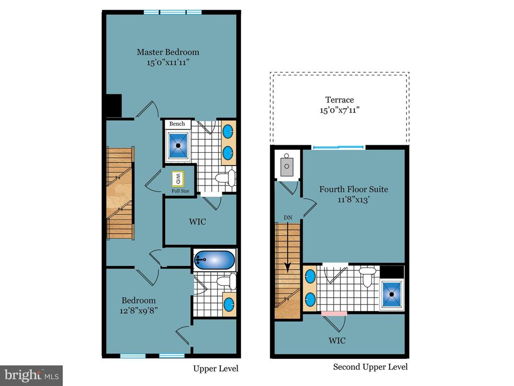 Upper levels floor plan - 43837 STUBBLE CORNER SQ, ASHBURN