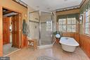 Footed tub and separate shower - 94 CANTERBURY DR, STAFFORD