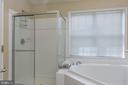 Master bath with Soaking tub - 21965 WINDOVER DR, BROADLANDS