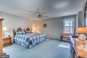 Huge Master Bedroom - that's a King size bed - 1113 JOHN PAUL JONES DR, STAFFORD