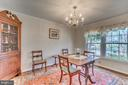 Dining room with crown molding and hardwood floors - 1113 JOHN PAUL JONES DR, STAFFORD
