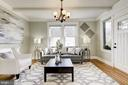 Sunny and charming Living room - 4115 10TH ST NE, WASHINGTON