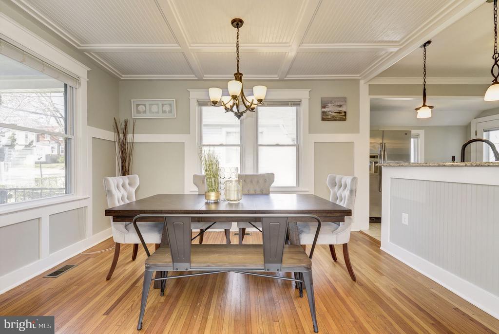 Large dining room - 4115 10TH ST NE, WASHINGTON